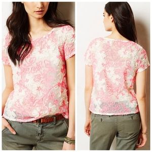 Anthropologie Meadow Rue Cherry Blossom Blouse L